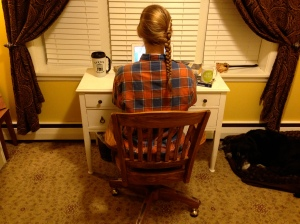 Writing in flannel.