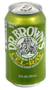 Dr. Brown's Cel-Ray celery flavored soda.